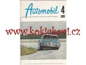 ČASOPIS AUTOMOBIL ČÍSLO 4/1959 - 1 KOMPLETNÍ ZACHOVALÉ ČÍSLO TATRA 603