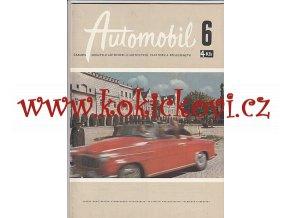 ČASOPIS AUTOMOBIL ČÍSLO 6/1959 - 1 KOMPLETNÍ ZACHOVALÉ ČÍSLO