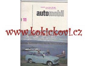 ČASOPIS AUTOMOBIL ČÍSLO 11/1964 - 1 KOMPLETNÍ ZACHOVALÉ ČÍSLO