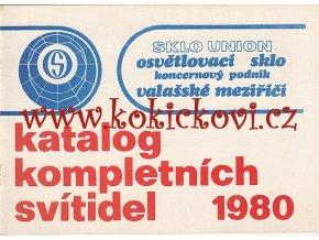 KATALOG SVÍTIDEL 1980 - SKLO UNION OSVĚTLOVACÍ SKLO VALAŠSKÉ MEZIŘÍCÍ