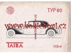 TATRA TYP 80 - 110 HP - PŮVODNÍ TUŠOVÁ KRESBA GRAFICKÉHO STUDIA K TVORBĚ PROSPEKTU