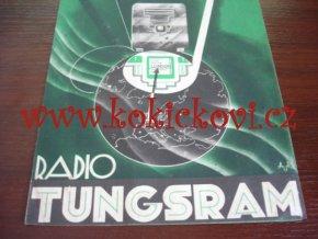 RADIO TUNGSRAM SUPERHET 66 - REKLAMNÍ PROSPEKT - Ateliér uměleckých reklam - architekt Petr Flenyko