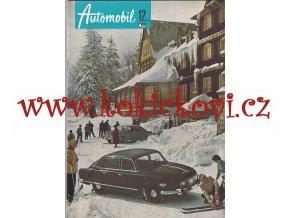 ČASOPIS AUTOMOBIL ČÍSLO 12/1958 - 1 KOMPLETNÍ ZACHOVALÉ ČÍSLO - TATRA 603
