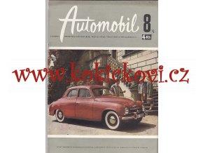 ČASOPIS AUTOMOBIL ČÍSLO 8/1958 - ŠKODA 1201 - REKLAMNÍ OBÁLKA - FOTO VILÉM HECKEL