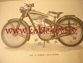 JAWA 100 - Robot - 1938 - příručka pro jezdce na kole s pomocným motorem 100 cm3