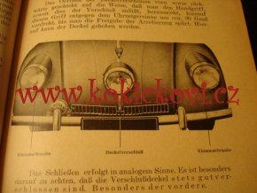 TATRA 87 - GEBRAUCHSANWEISUNG DES STROMLINIEN - WAGENS - TATRA 87 - ORIGINÁL NÁVOD K POUŽITÍ 193?