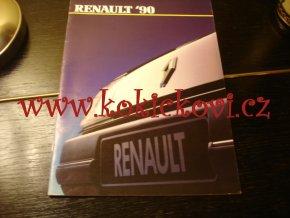 RENAULT ´90 - REKLAMNÍ PROSPEKT / KATALOG A4 - 36 STRAN PĚKNÝ STAV
