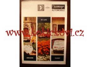 Wartburg Limousine - de luxe - Tourist - 1969 - prospekt - 8 STRAN - A4
