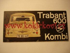Trabant 600 Kombi - 1963 - prospekt - český text