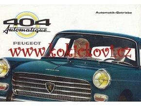 Peugeot 404 Automatik Getriebe - prospekt - 1967 - texty německy A4