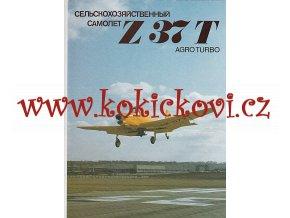 LETADLO MORAVAN Z 37 T REKLAMNÍ PROSPEKT - RUSKY - 4 STRAN A4 - PĚKNÝ STAV