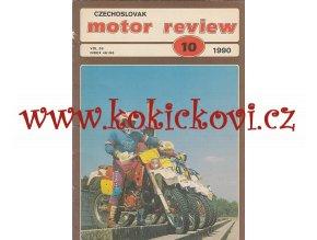 ČASOPIS MOTOR REVIEW Č.10/1990 - 1 KOMPLETNÍ ZACHOVALÉ ČÍSLO