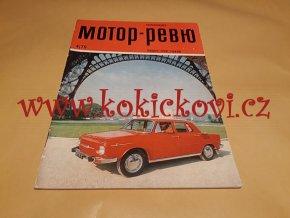 MOTOR REVUE 4/1970 - A5 - 40 STRAN TEXT RUSKY ŠKODA 100 - VOLHA M24