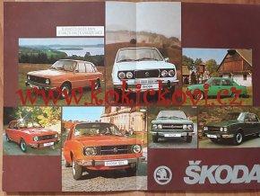 Škoda 105 / 120 / 130 GLS - prospekt A4 - 8 stran - nebo plakát A2
