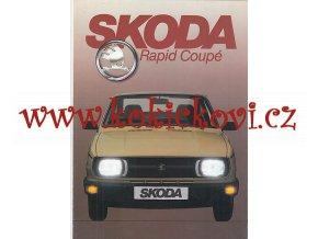 Škoda Rapid Coupé - prospekt A4 - 8 stran - texty holandsky - pěkný stav