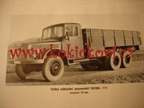 TATRA 111 - SEZNAM NÁHRADNÍCH SOUČÁSTÍ VOZU - VYDÁNÍ 1951 - 74 TABULÍ + 260 STRAN