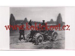 TATRA - ZÁVODNÍ VŮZ NA STARTU 1900 - REKLAMNÍ FOTOGRAFIE ROZMĚRY A STÁŘÍ VIZ POPISEK