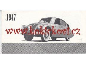 TATRA - REKLAMNÍ PROSPEKT 1947 - 50 LET ZÁVODU - 4 STRANY - TATRA 87