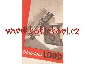 Standard Radio - Lord - reklamní leták A5 - výborný stav - 1932