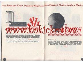 Standard Radio - katalog produkce 1931-32 reklamní prospekt - 12 stran - A5 - Standard REX - 3b -4b- 8b