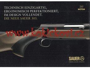 Kulovnice samonabíjecí SAUER 303 - reklamní prospekt A4 - 8 stran německy