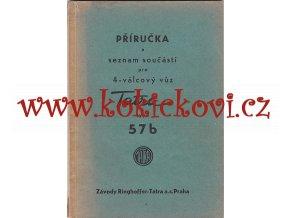 Tatra 57 b - příručka a seznam součástí pro 4 válcový vůz - 1939