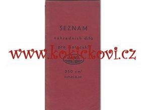 JAWA 250 ccm Duplex-Blok - seznam náhradních dílů - 1940