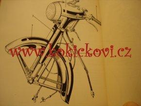 JAWA 500 typ 15 - 1952 - seznam náhradních součástí - poškozeno viz popisek