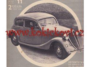 ČASOPIS AUTO ČÍSLO 11/1936 TISK MELANTRICH - AUTOKLUB REPUBLIKY ČESKOSLOVENSKÉ