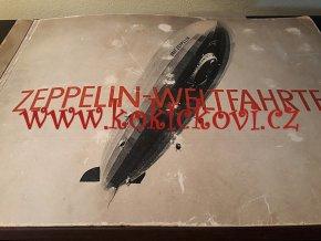 Zeppelin - Weltfahrten  1933 - Vzducholodě - 264 fotografií - komplentí stav