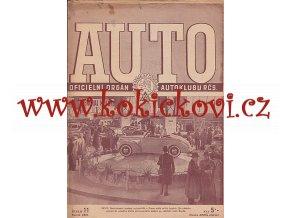 AUTO - ČASOPIS ČS. MOTORISTŮ ČÍSLO 11 LISTOPAD 1947 AUTOSALON MEZINÁRODNÍ VÝSTAVA 1947