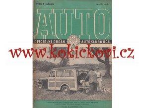 AUTO - ČASOPIS ČS. MOTORISTŮ ČÍSLO A  - KLUBOVNÍ -  LISTOPAD 1946