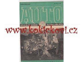 AUTO - ČASOPIS ČS. MOTORISTŮ ČÍSLO A  - KLUBOVNÍ -  PROSINEC 1946