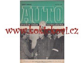 AUTO - ČASOPIS ČS. MOTORISTŮ ČÍSLO A5 KVĚTEN 1946