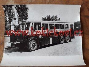 AUTOBUS TATRA 120 ROK 1935? - REKLAMNÍ FOTOGRAFIE ROZMĚRY A STÁŘÍ VIZ POPISEK