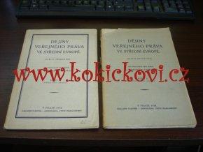 Dějiny veřejného práva ve střední Evropě 1. a 2.