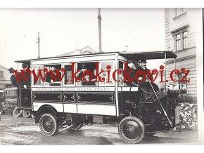 MĚSTSKÝ OMNIBUS FIAT 1908 KR. MĚSTA PRAHY - REKLAMNÍ FOTOGRAFIE ROZMĚRY A STÁŘÍ VIZ POPISEK