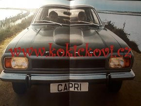 Ford Capri - prospekt - A4 - 197? - 20 stran německy