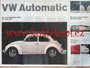 VW Brouk - Karmann Ghia VW Typ 3 VW Käfer Poster Plakat Prospekt 1968