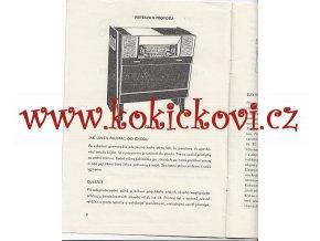 GRAMORÁDIO TESLA COPÉLIA 1107 A - ORIG. NÁVOD K OBSLUZE - TESLA PŘELOUČ 1959