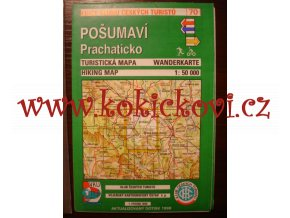 POŠUMAVÍ - PRACHATICKO MAPA turistická mapa, 1 : 50 000