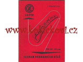 ČZ 175 typ 502 skútr Čezeta - 1962 - seznam náhradních dílů - 1. VYDÁNÍ