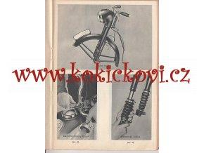 JAWA 350 typ 18 - pérák - popis a jízdní návod se zvláštním zřetelem pro obsluhu a udržování - 1951
