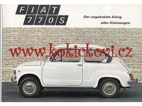 Fiat 770 S - reklamní prospekt - 1971 - německy - 6 stran A4