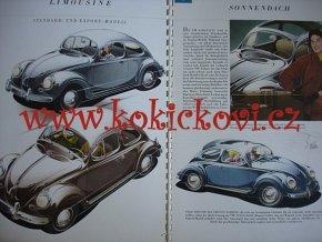 VW Brouk Käfer Beetle Prospekt - 1953/4/5? - A4 kroužková vazba -Volkswagen