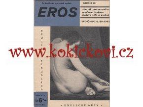 EROS 1933 Sborník pro sexualitu, pohlavní hygienu, kulturu těla a umění  dvojčíslo: 19-20