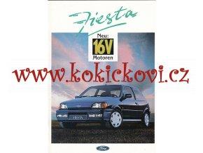 Ford Fiesta neu 16 V prospekt - A4 - 30 stran - německy - výborný stav