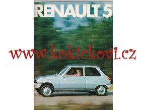 Renault 5 TL TS - reklamní prospekt větší A4 - 16 stran - německy - nádherné fotografie