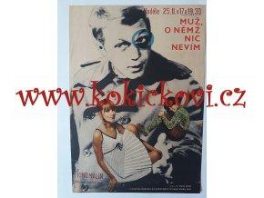 FILMOVÝ PLAKÁT A3 - MUŽ, O NĚMŽ NIC NEVÍM - 1967