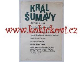 FILMOVÝ PLAKÁT A3 - KRÁL ŠUMAVY - 1975 - REŽIE KAREL KACHYŇA
